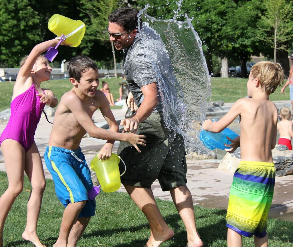 Fun activity water-fight