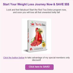 How to lose abdominal fat with red tea detox